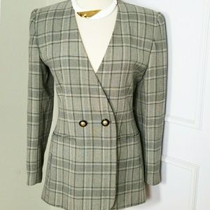 Vintage 80s/90s Oversized Blazer Glen Plaid